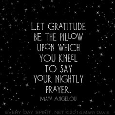Maya Angelou quote on gratitude