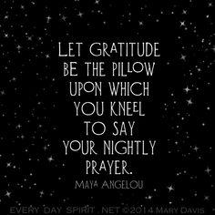 Maya Angelou quote on gratitude